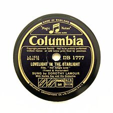 "DOROTHY LAMOUR ""Lovelight In The Starlight"" (E+) COLUMBIA DB-1777 [78 RPM]"