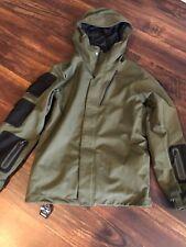 New Volcom Mens Militia Snowboard Ski Jacket Coat Size Medium Green Black