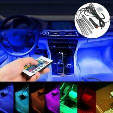 LED RGB Car Interior Atmosphere USB Lights Strip Colors Decor Footwell Lamp S1D1