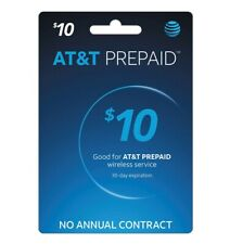 AT&T Prepaid $10 Refill Top-Up Prepaid Card - Super Fast (Email Delivery)