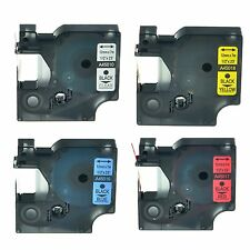 """45010 45016 45017 45018 Label Tape for DYMO D1 LabelPoint 100 150 200 12mm 1/2"""""""