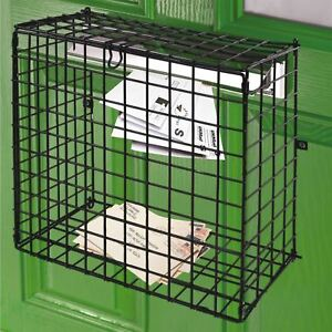 Letterbox Cage Letter Mail Box Catcher Door Guard Large Post Basket & Fixing