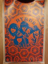 Byrds 1967 Poster Black Light Saladin Productions Wendell Ltd