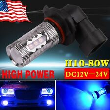 1x High Power H10 80W LED 9145 Blue Fog Light DRL Driving Lamp Bulbs 12V USA