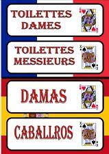 Ladies & Gents Toilet Signs  TOILET DOIGN SIGNOS SIGNES DE PORTE DE TOILETTE