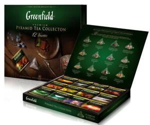 Greenfield Premium Tee Collection 12 Sorte Geschenk Set Pyramiden-Beutel Beutel