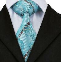 Italian Designer Milano Exclusive PETROL DARK BLUE SILK TIE TEAL NAVY