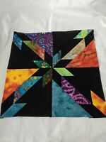 Batik Hunter's Star Quilt Blocks