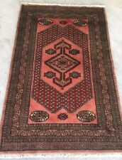 Tapis Pakestan Noué Main Laine 150x96cm Oriental Rugs Carpet Teppiche Tappeto