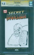 Spider Man 1 CGC 9.8 SS Walking Dead Marvel Zombies Cliff Rathburn Original art