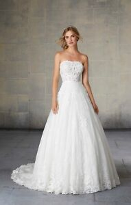 Mori Lee 2132 Size 12 GENUINE Wedding Dress 2020 collection Ivory New With tags