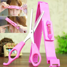 2* DIY Hair Styling Salon Bangs Scissors Tools Hair Cutting Scissors With Ruler