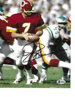 Rare Joe Theismann Washington Redskins Hand Signed Autograph Beckett BAS COA
