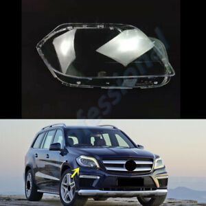 Right Side Headlamp Clear Lens Cover+Glue For Mercedes W166 GL~Class 2013~2016