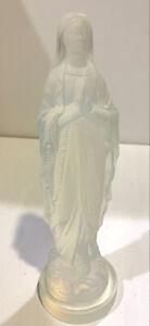 "Etling France Opalescent Glass Madonna Virgin Mary 8"" Figurine"