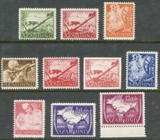 Indian National Army 1943 Ten Different Unissued Stamps, NH-LH