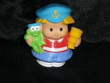 Fisher Price Little People Eddie Ship Boat Captain HTF