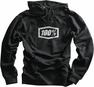 100% MX Motocross CORPO Pullover Sweatshirt Hoody (Black) Choose Size