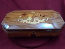 EXTRA LARGE SORRENTO INLAY REUGE MUSIC BOX PLAYS WALTZ OF THE FLOWERS (VIDEO)