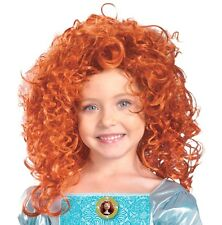 Princess Merida Costume Wig Licensed Girls Childs Disney Red Hair - Fast Ship -