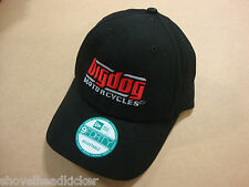 Big Dog Motorcycles Black Hat 9 Forty Adjustable Embroidered Logo K-9 Pitbull