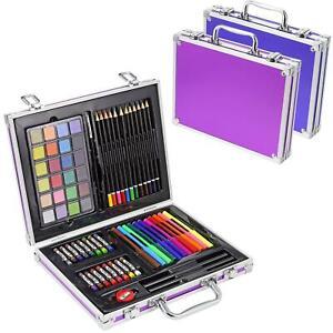 70pc Artists Aluminium Art Case Colouring Pencils Painting Set Childrens/Adults
