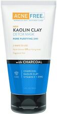 Acne Free Kaolin Clay Detox Mask 5 fl oz Pore Purifying 2 in 1 New