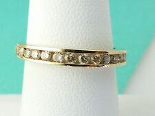 14k Yellow Gold Diamond Wedding Bands Ring 0.35Carrat
