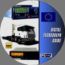 HGV PSV LGV DIGITAL TACHOGRAPH/TACHO AID PC CD ROM OPERATING LAWS & DIRECTIVES