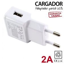 CARGADOR CORRIENTE USB RED DE PARED UNIVERSAL PARA MOVIL ANDROID BLANCO 5V 2A