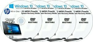 HP All-in-One -  22-b058 Factory Recovery Media 4-Discs Set / Windows 10 64bit