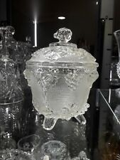 Jeanette Glass Grape & Vine Covered Candy Dish1930s Nice!