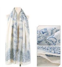 New Women Long Cotton Scarf Wrap Ladies Shawl Girls Large Silk Scarves Gift UK