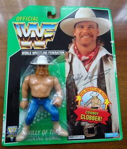 Vintage 1994 WWF Figure BILLY GUNN Tag Team Smoking Gunns Green Series MOC
