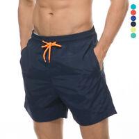 Men's Swimwear Swimming Trunks Mesh Liner Beach Shorts Quick dry with Pockets