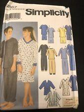 Simplicity 9867 Pattern Kids Boys Girls Pajamas UNCUT