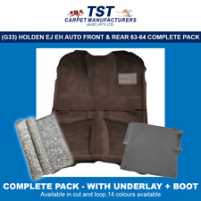 MOULDED CAR CARPET (G33P) HOLDEN EJ EH AUTO F&R, U-LAY & BOOT PACK 62-64