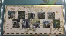 Singapore stamp 2019 Bicentennial Collector IMPERF sheet MNH Raffles (1k print)