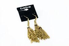 Bebe earrings gold hanging fringe 222582