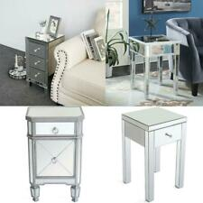 Mirrored Accent Table Sofa End Table Nightstand Bedside Table Side Table
