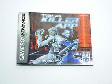TRON 2.0 KILLER APP manual only Nintendo Game Boy Advance GBA ENGLISH