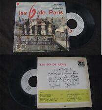 LES SIX DE PARIS - Rose Des Prairies Rare French EP Pop Sixties NM