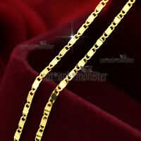 9K PLAIN YELLOW GOLD FILLED SOLID 1.5mm ANCHOR RING LINK CHAIN 45cm NECKLACE NEW