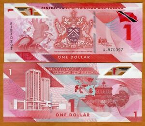 Trinidad and Tobago, $1, 2020 (2021) P-New, Polymer UNC > Redesigned