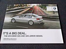 2013 BMW 320i & 320i xDrive 3 Series Sedan F30 Foldout Brochure US Sales Catalog