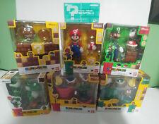 Super Mario Bros. Bandai S.H Figuarts Set Mario, Luigi, Yoshi, Diorama A B C