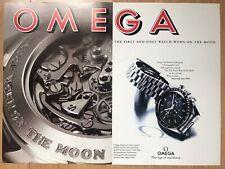Omega Speedmaster Moon 1994 Two Page Advertisement Pub Ad Werbung