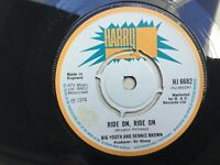 "Big Youth And Dennis Brown: Ride On Ride On: 1974: 7"" Single :Free UK Post"