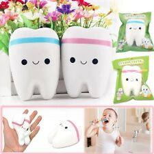 2Pcs 10CM Jumbo Squeeze Stretch Rare Kawaii Squishy Teeth Bread Slow Rising Toy