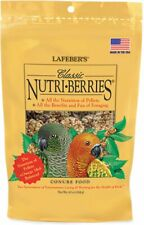 LAFEBER'S Classic Nutri Berries CONURE Food Bird 10 oz Pellets Foraging Omega